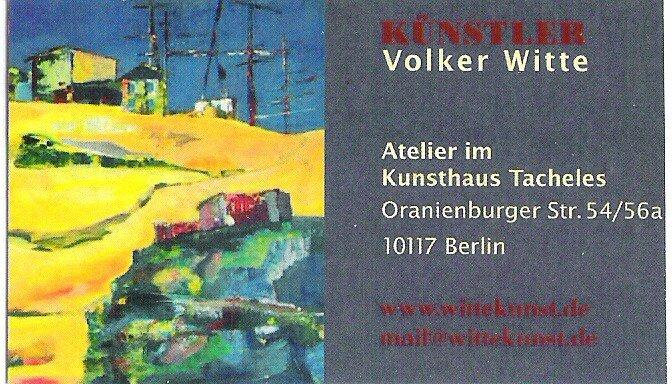 la carte d'un des artistes de tacheles (Witte)