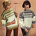 Collection printemps-été : pull et saucisse.