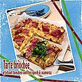 Tarte briochée artichaut tomates confites speck & scarmoza fumée