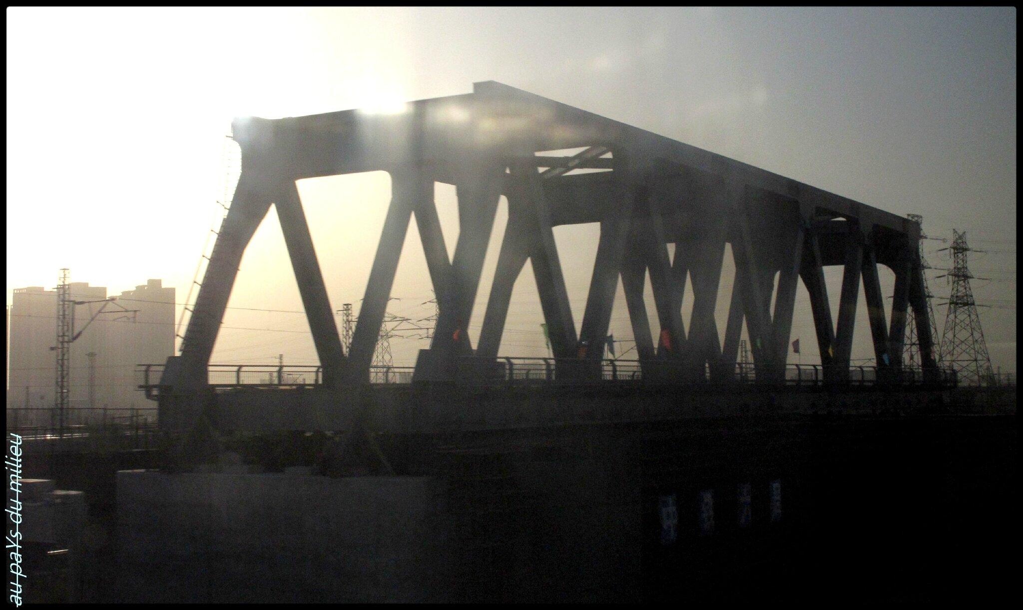 Tianjin noeud ferroviaire du nord de la Chine.