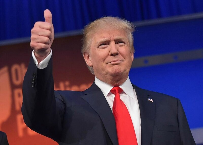 Donald Trump thumbs-up