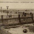 1928 : Marée basse, jetée et place-terrasse Andernos (JRB)