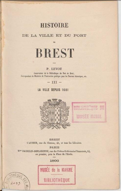 Histoire de Brest Levot 1866_1