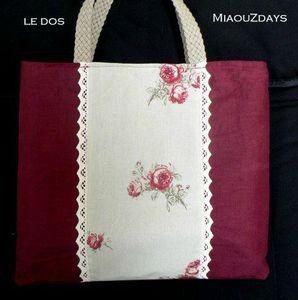 sac aux roses dos