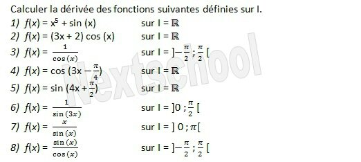 1ere derivation fonctions derivées 3 10
