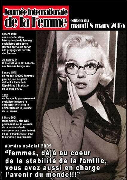 Génial Affiche Pour La Journée De La Femme affiche journée de la femme 2005 - divine marilyn monroe