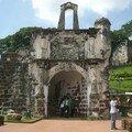 Malacca, ruines du fort hollandais