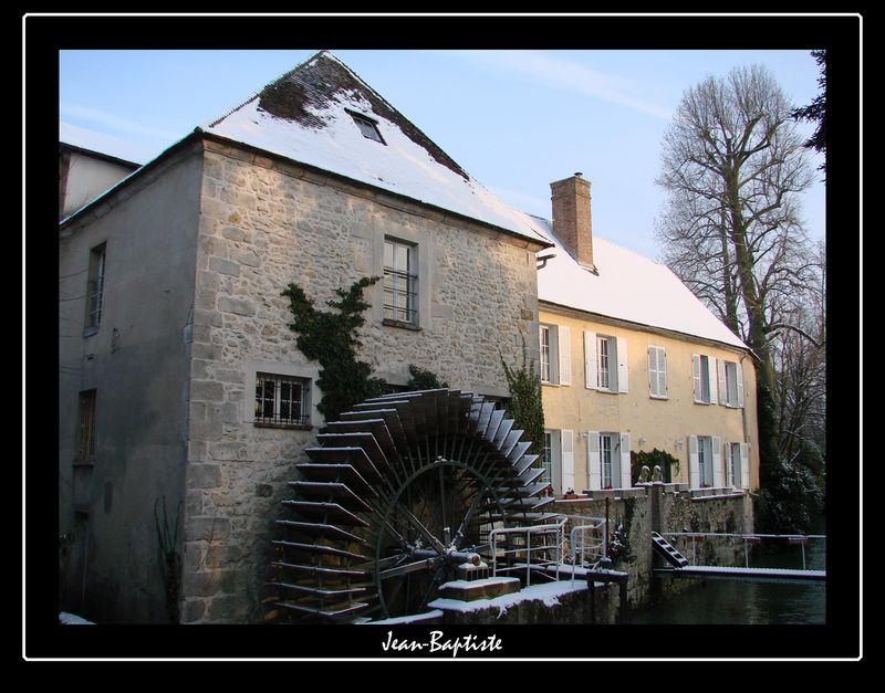 Nemours ,Seine et Marne,sous la neige