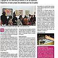 Article de presse (Nouvelle République) - Février 2011