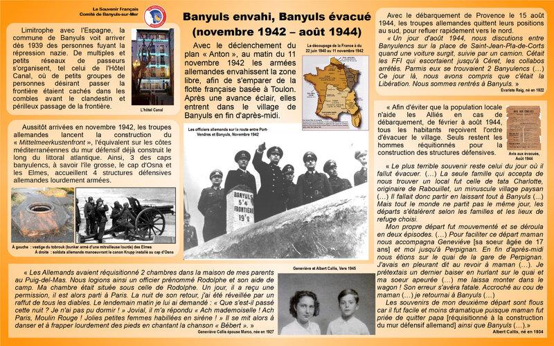 Banyuls envahi et évacué 1942-1944