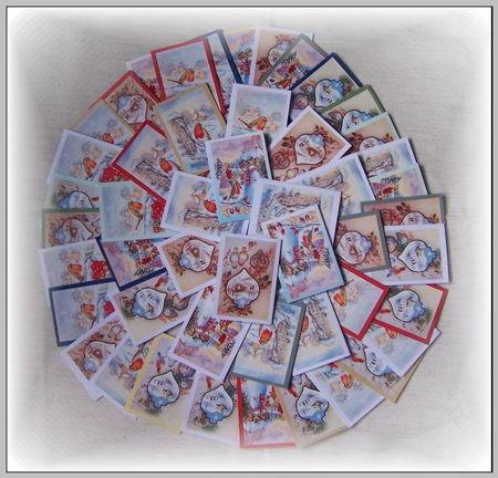 50 cartes '' Noel '' collage de la part de ma fille
