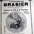 Brasier automobile circa 1900 publicite ancienne au 2