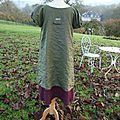 adulte MARINETE B, robe verte & rose (2)