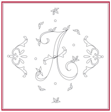 abecedaire dans le fil blanc de 2012