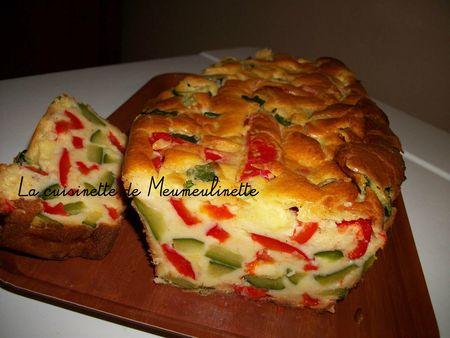 cake a la courgette et poivrons
