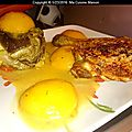 Poulet roti aux legumes du soleil et oreillons de pëches (recette maison)