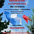 3ème pique-nique républicain de la ldh à avranches - 14 juillet 2013