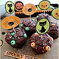 Petits cakes au chocolat pour halloween