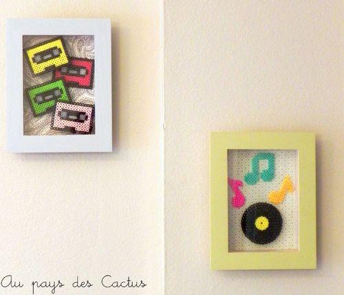 Cadres vinyl cassettes Au pays des Cactus