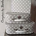 Petites valises de rangement déco étoiles