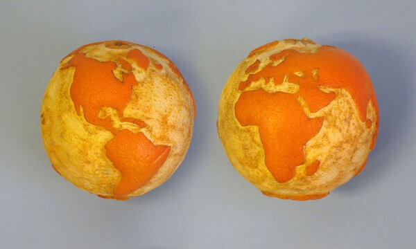 carving fruit-earth-orange