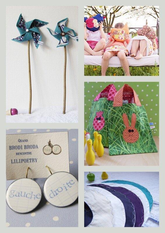 Brodi Broda-semaine à l'atelier-cadeaux personnalisés bébés-bavoirs avec prénom-moulin à vent