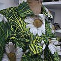 Ciré AGLAE en coton enduit imprimé prairie normande, version court (5)
