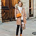 Look look look # porter le manteau façon peau lainée
