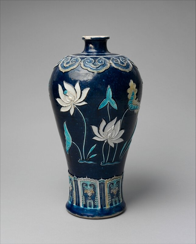 Bottle with Lotuses, Ming dynasty (1368–1644), late 15th century