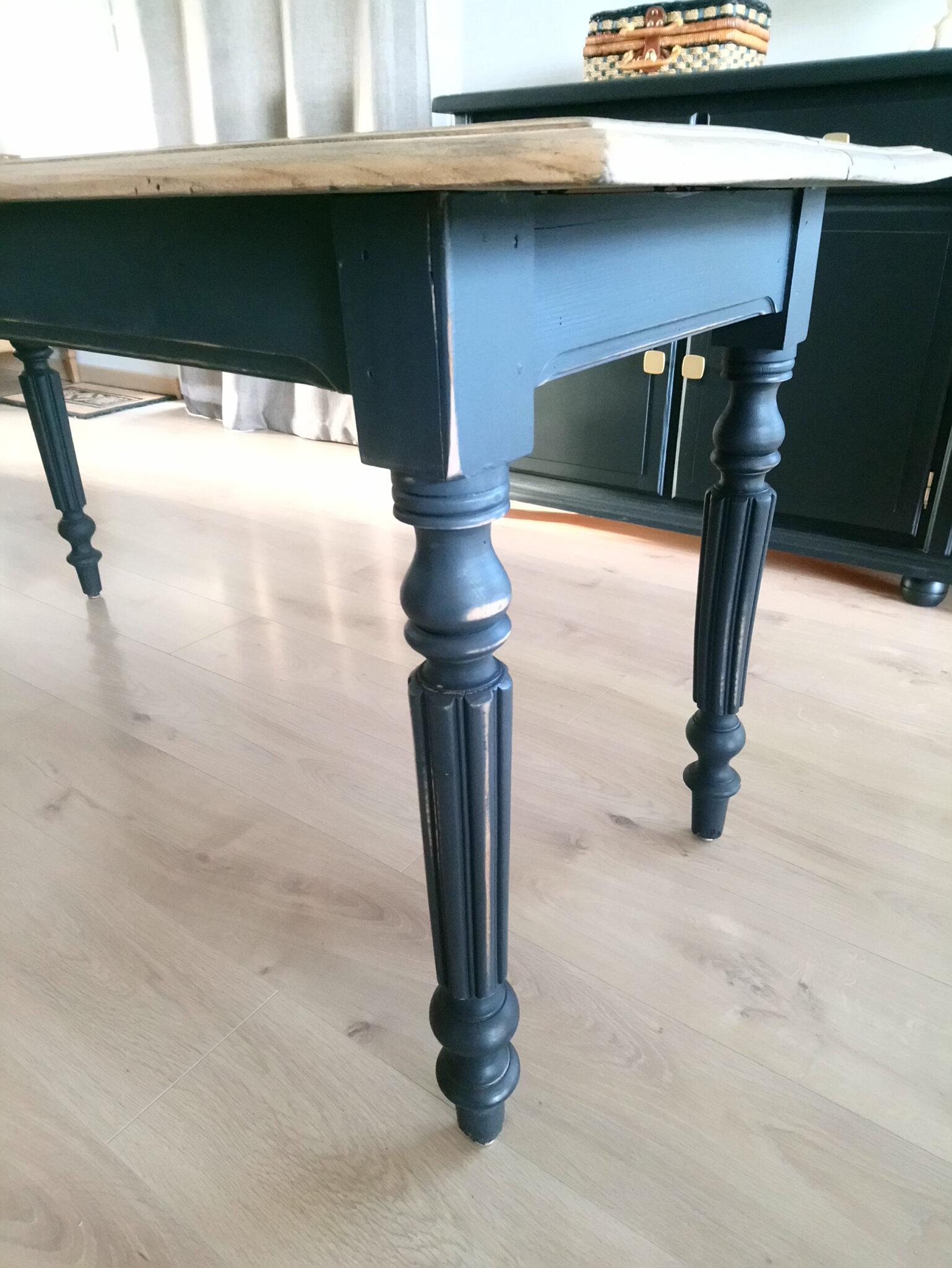 Table de ferme relooké   Rénovation et Relooking de meubles Nadrenov