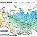 The average annual temperature in Russia
