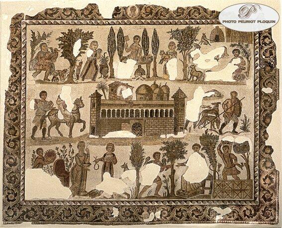 TUNIS_Musee_du_Bardo_mosaique_du_seigneur_Julius_datant_du_Ve_siecle_decouverte_a_Carthage