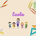 Lectures thématiques : l'école (- de 5 ans)