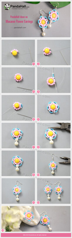 3-PandaHall-Ideas-on-Macaron-Flower-Earrings