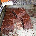 Brownies sans gluten et végétalien