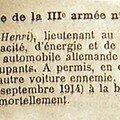 3 septembre 1914 . hameau du poncelet.