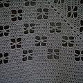 plaid granny coton blanc