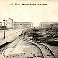103 - Caen caserne d'artillerie - Vue générale (carte postale coll. Verney-grandeguerre)