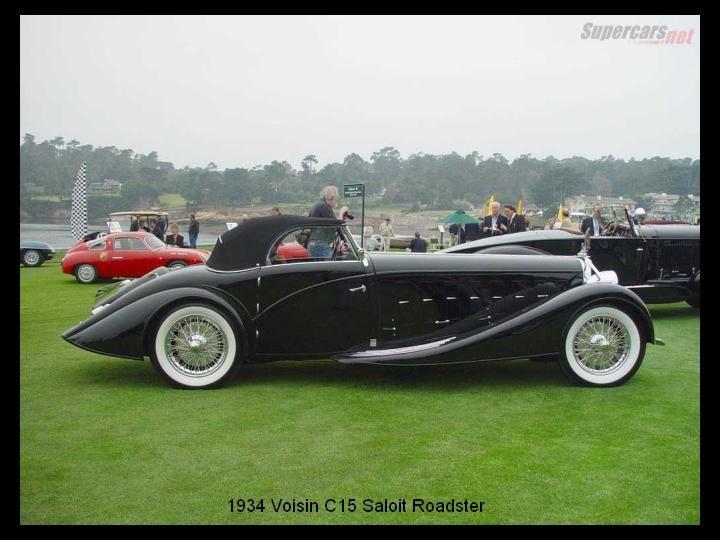 1934 - Voisin C 15 Saloit Rroadster.