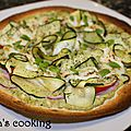 Pizza pesto express jambon et courgette