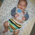 Mahé à 1 mois et 16 jours en Kissaluvs + Choup'culotte