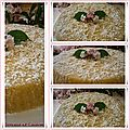 Gâteau de semoule au lait de coco