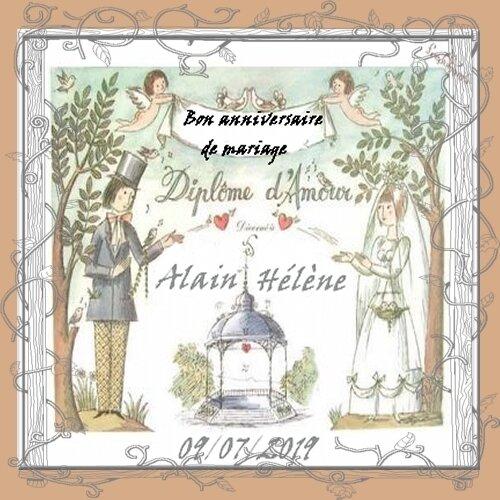 anniversaire mariage Hélène Alain 2019