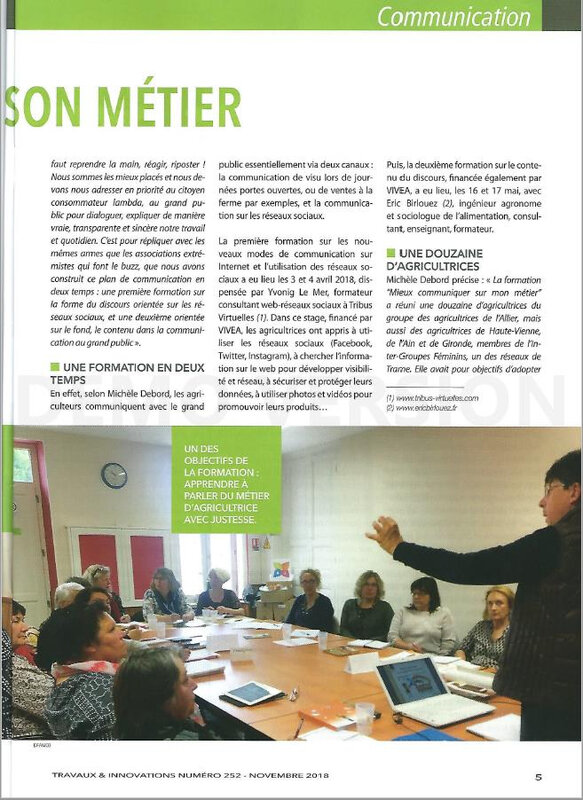 "Article ""Travaux et Innovations"" /"