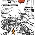 Première ébauche d'une affiche pour une exposition de champignons