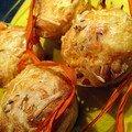 Cake au poulet, au fromage d'orval et à l'estragon.