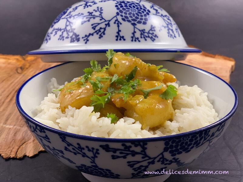 Curry de crevettes au lait de coco 5