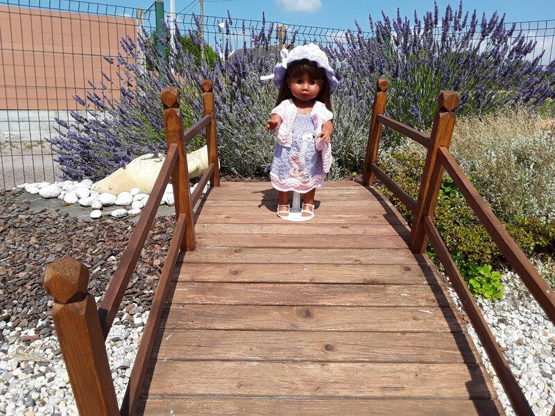 Margot sur le pont de Lillmer