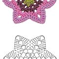 Stich crochet flower