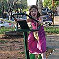 Eve-Lise sur le vélo